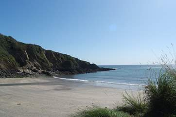 Polridmouth beach is a'secret spot'...only accessible on foot or by boat and a delightfully sheltered, tranquil location.