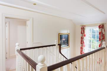 The light and open landing upstairs.
