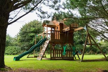 The children's play area in the shared grounds.