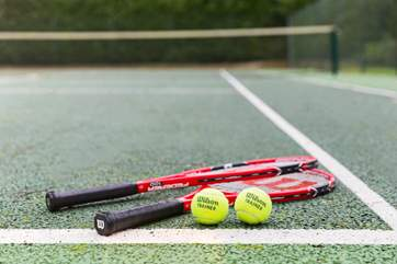 A tennis court for budding Wimbledon players.