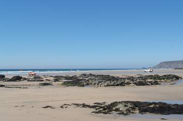 Porthtowan beach on the north coast is just a twenty minute drive away.