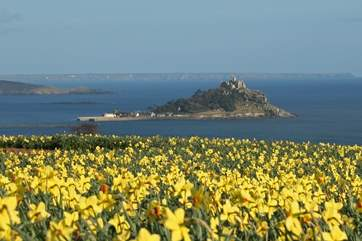 St Michael's Mount is approximately 7 miles away.