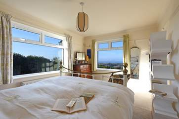 A bedroom with a view.