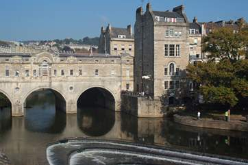 The Roman city of Bath is just a 20 minute drive from Lullington.