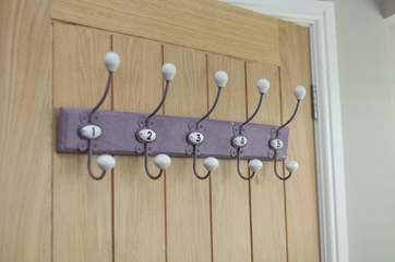 Even these door hooks look lovely!