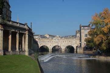 The fabulous Roman City of Bath is just a 20 minute drive from Lullington.