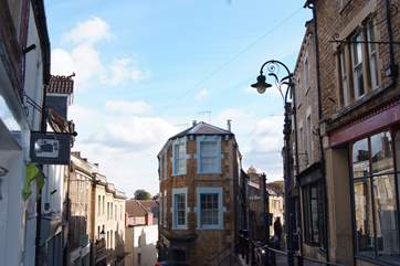 St Catherine's is a steep cobbled street in the centre of Frome, with vintage boutiques, art and interiors shops and little cafes.
