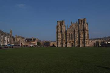 Wells Cathedral City is a short drive away. The cathedral, the Bishops Palace and the weekly artisan market make this a great place to visit.