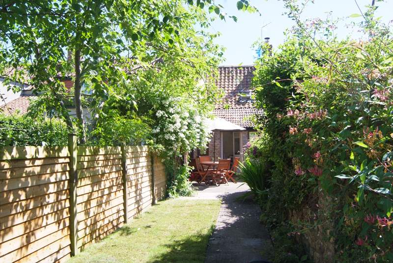 The cottage has a very private and enclosed back garden.