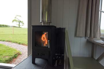 The cosy wood-burner is perfect for those out-of-season breaks.