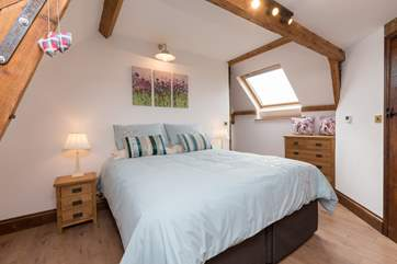 This is one of the two double bedrooms. The beds are super comfortable and there is plenty of storage space too.