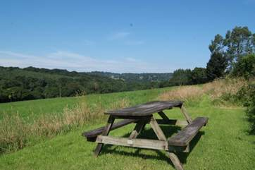 ...a picnic spot that looks out over meadow and countryside.