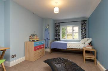This is another of the twin bedrooms. Bedroom 5 - this image shows the room set up as a single. It will normally be set up as twins.