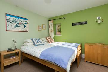 This is bedroom 3. All three of the other bedrooms have twin beds but you are welcome to push them together of course. These truckle beds are very high quality and have fully sprung mattresses.