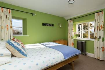 Another view of this bedroom with the beds pushed together.