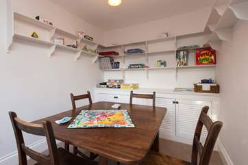 The little snug has a games/jigsaw table and an amazing choice of games, puzzles and toys.