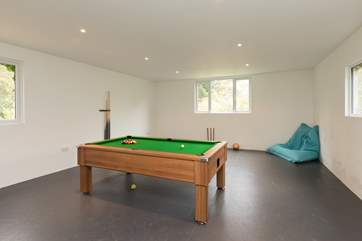 Another view of the games-room. Excellent for all ages, especialy if there is a wet weather day.