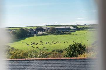The wonderful view from the sitting-room windows over the surrounding countryside.