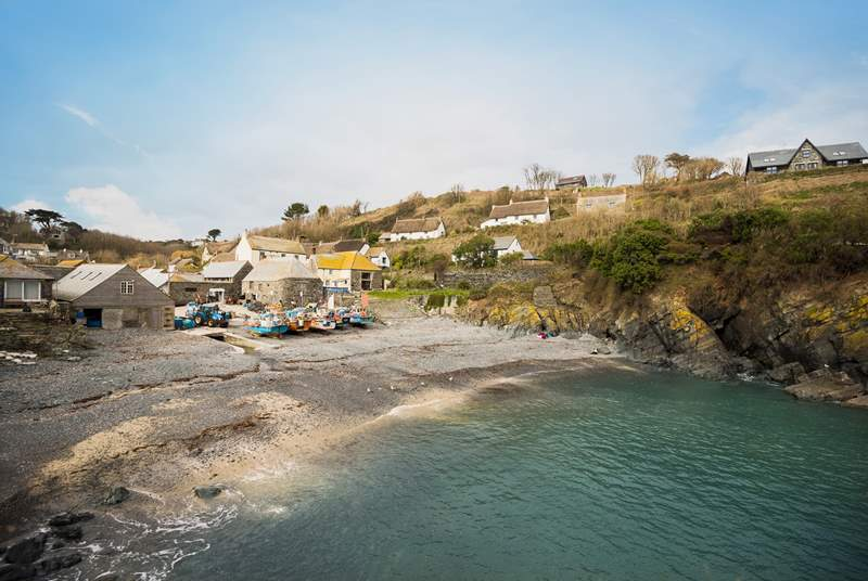 Cadgwith Cove is a short stroll down the hill to this pretty fishing cove where you will find a friendly pub, restaurant and fresh fish and seafood for sale.