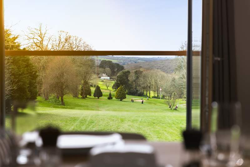 The fantastic views across the golf course down towards the water front.