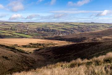 Up on the high moors, just a short drive away, you will find all the open space you could want, with breathtaking views.