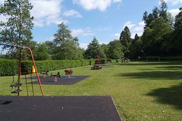 A few minutes walk takes you to this excellent childrens' play park.