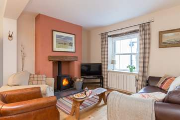 The wood burning stove is a great treat for out of season holidays here.