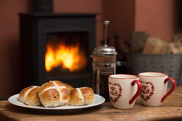 You can snuggle up after a bracing walk up on Exmoor.