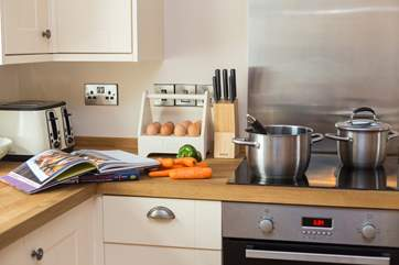 The kitchen is very well equipped in this great home from home cottage.