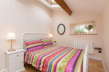 This is the ground floor double bedroom.