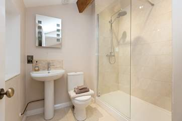 The ensuite shower room - a really good sized room