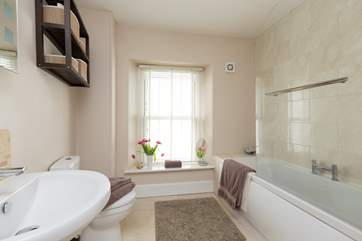 There is a great sized family bathroom with the option of a lovely long soak in the bath or a shower.