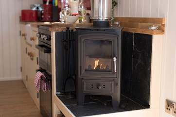There is a cosy wood-burner but the hut also has under-floor heating too so you will be warm and toasty all year round.