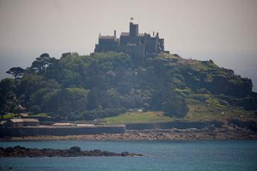 The magestic St Michael's Mount, definitely worth a visit and Marazion beach.