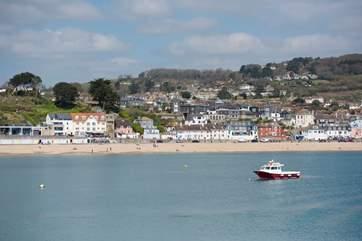 Bustling Lyme Regis.