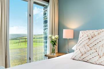 All the bedrooms have great views over the garden and beyond.