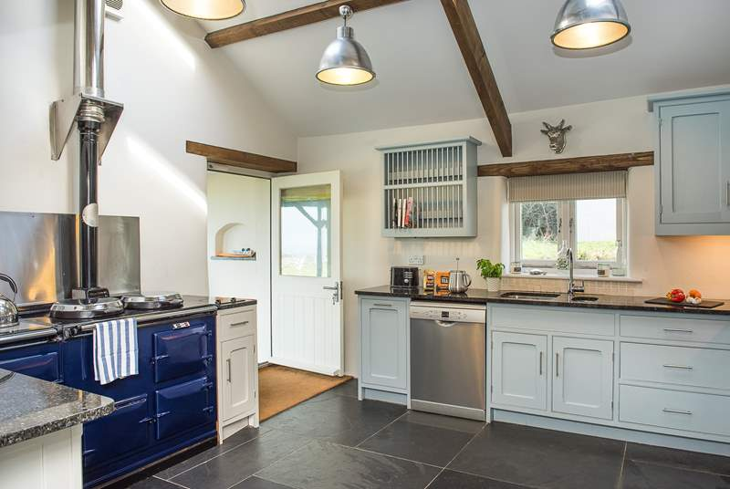 The kitchen creates a warm welcome from the minute you step inside.