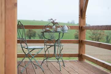 The pretty patio provides the perfect opportunity for you to enjoy a cuppa and a slice of something delicious.