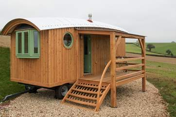 This quirky wagon with its wonderful countryside views really is perfect for a break any time of year.