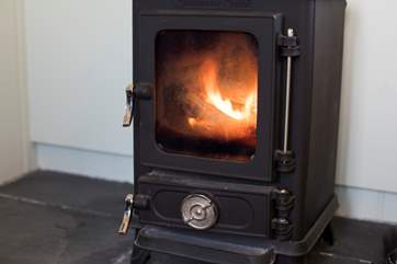 The cosy wood-burner will keep you warm in the chillier months.