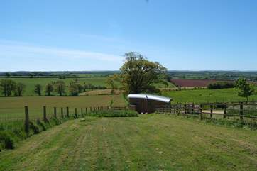 Another view of the setting for this excellent  glamping site.