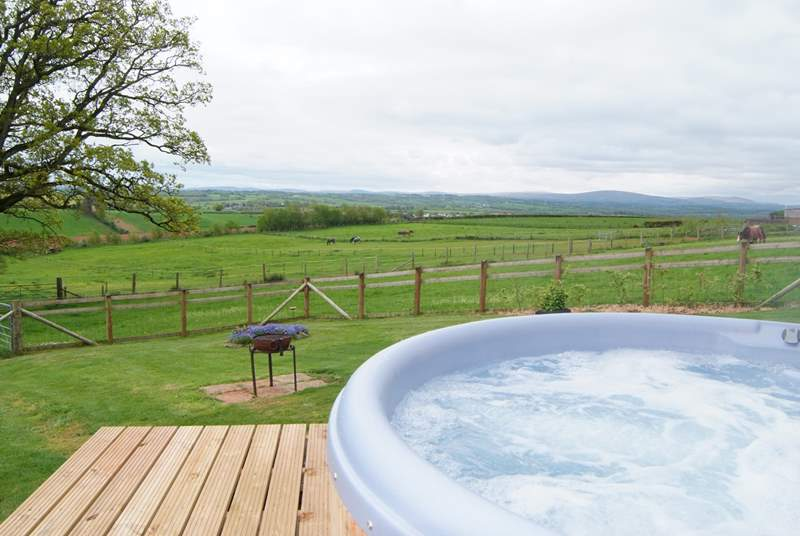 The bubbling hot tub is a brand new addition, added in May 2019.