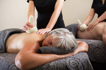 Book your treatments before you arrive, a treat to look forward too.