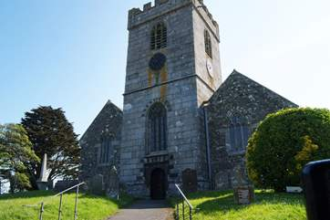 The 15th Century church at St Keverne.