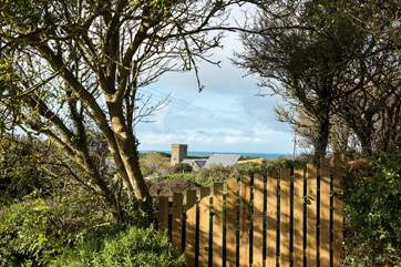 From the upper decking area you can enjoy views over the village out to sea.