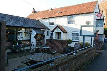 The village shop and post office at Motcombe has lots of local produce and is a short walk from Black Pig Retreats.