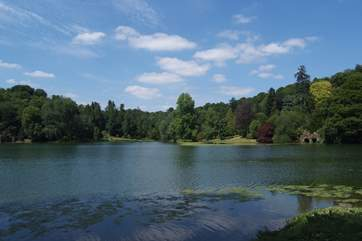 The beautiful lake and gardens at the National Trust's Stourhead House is nearby.