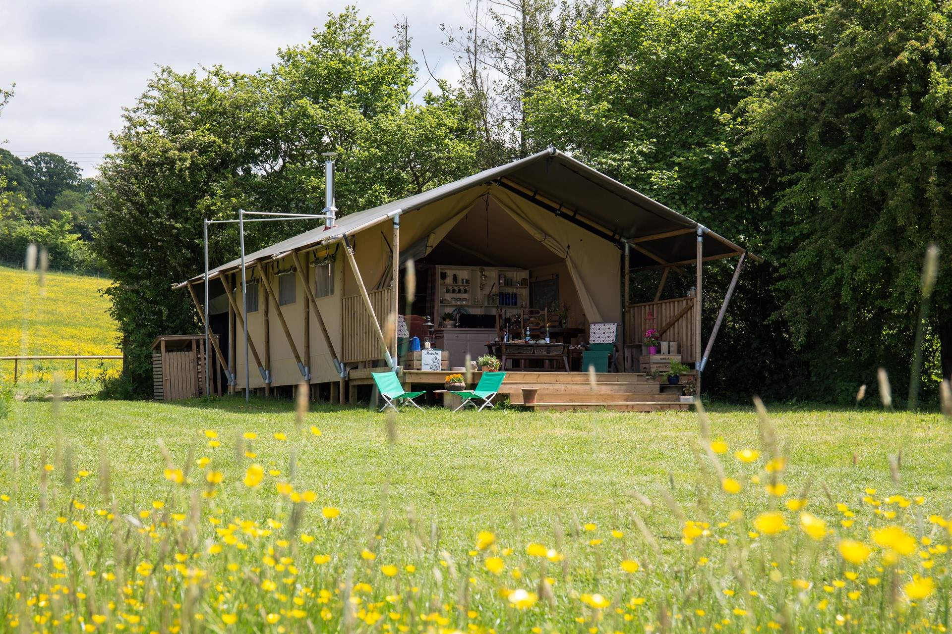 Mukota Safari Tent & Glamping Dorset | Luxury En Suite Safari Tents in Dorset