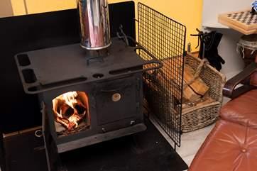The wood-burner will keep you toasty warm.