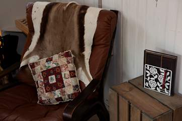 Relax on this comfy chair and take in the fresh air and countryside views... bliss.